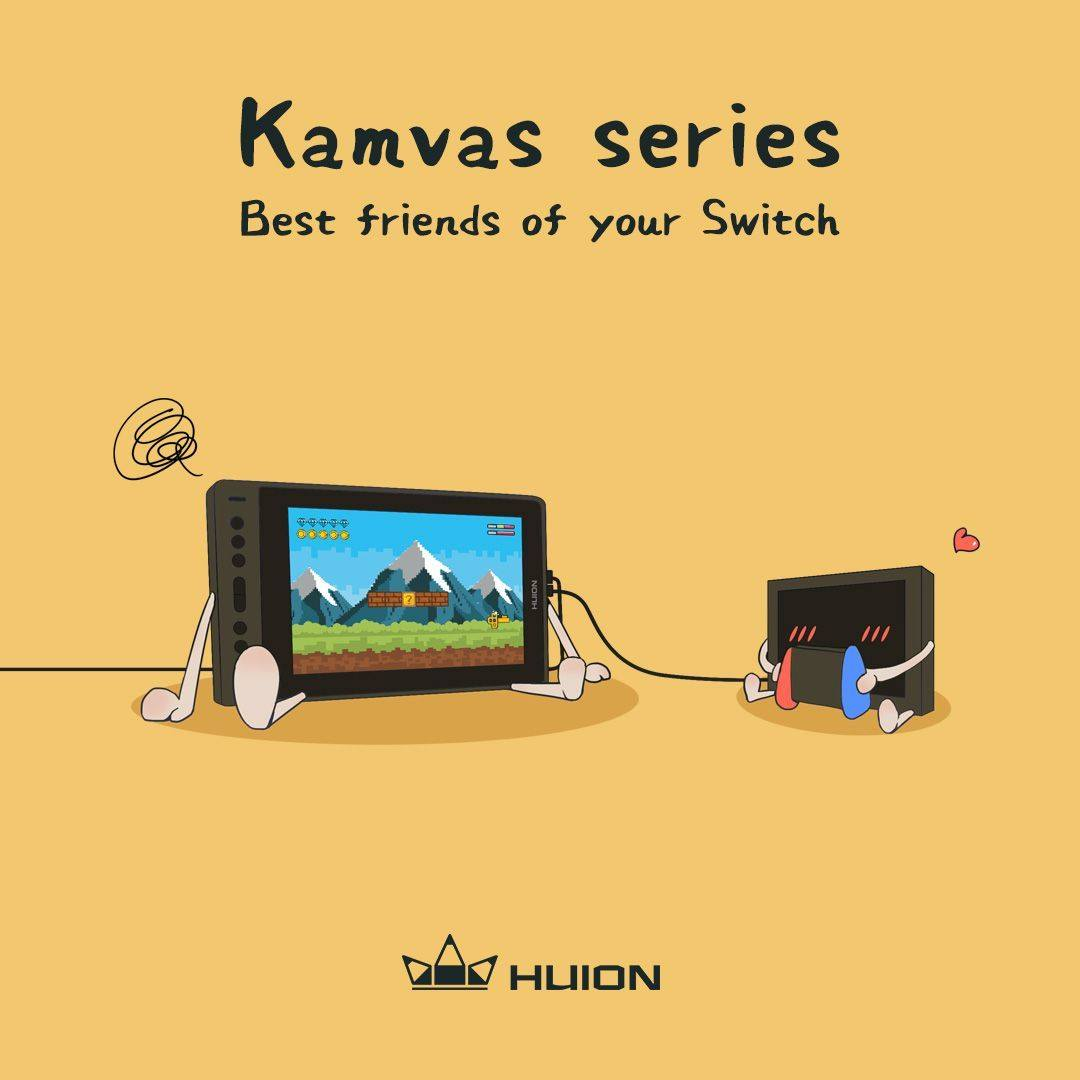 #HuionTips Kamvas series support the Switch connection.