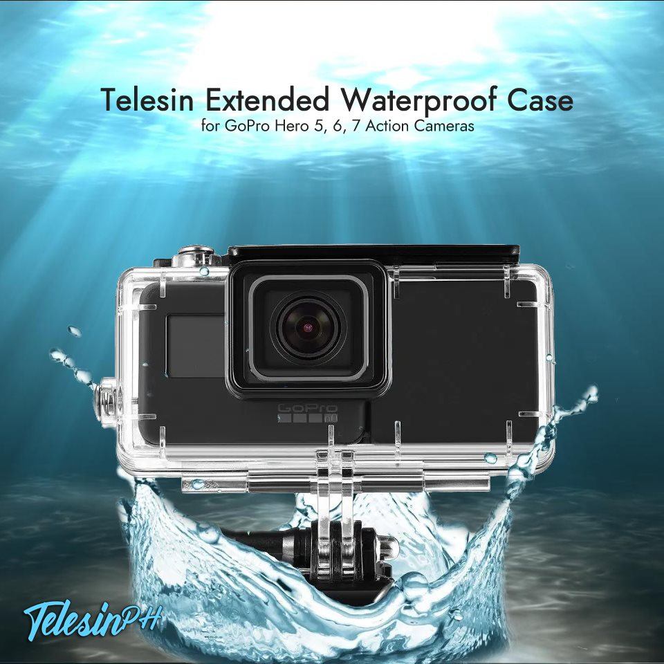 Telesin Extended Waterproof Case + Powerbank for a longer and exciting activity. Features: