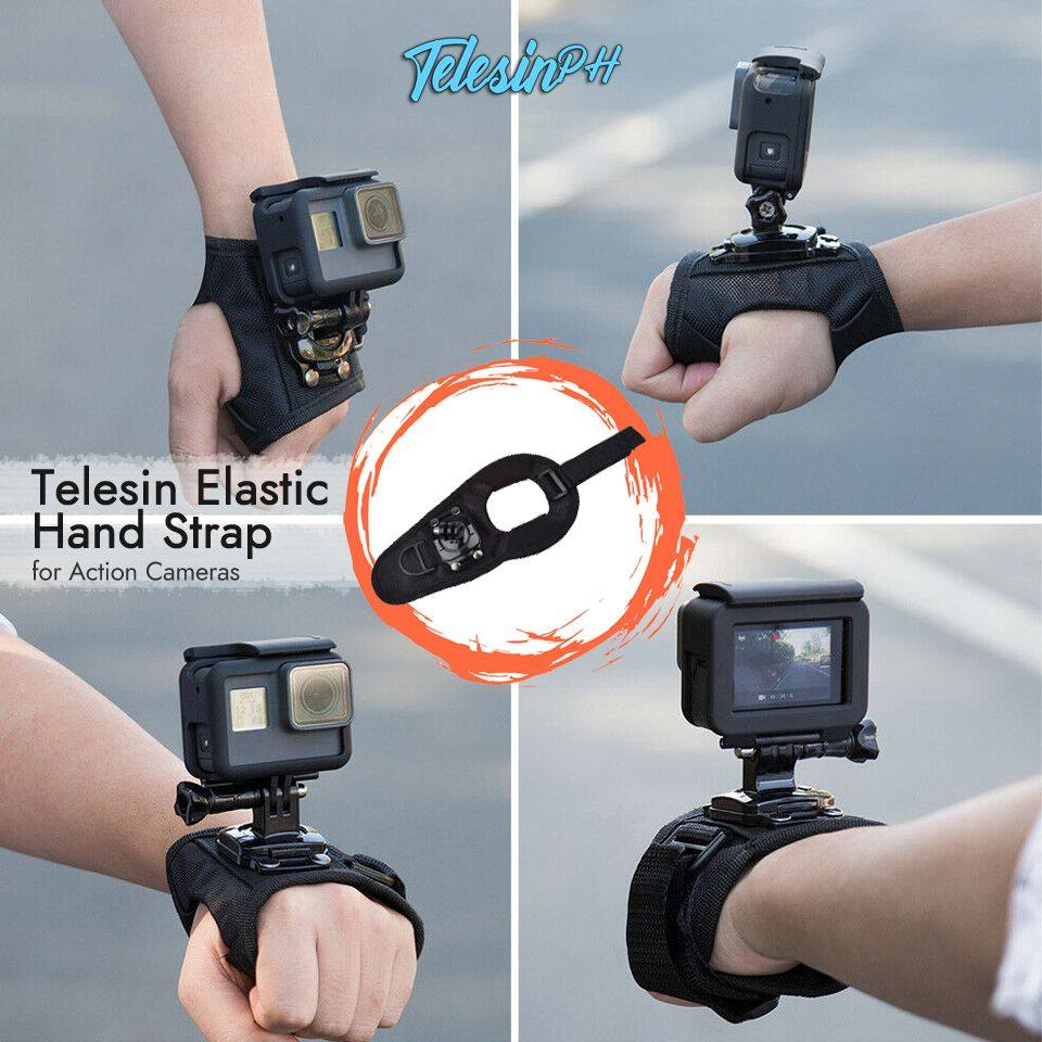Telesin Elastic Hand Strap with strong fabric gives you more stability and control instead of handheld shooting with the camera. Easily install the camera onto your hands to capture ultra immersive POV footage.
