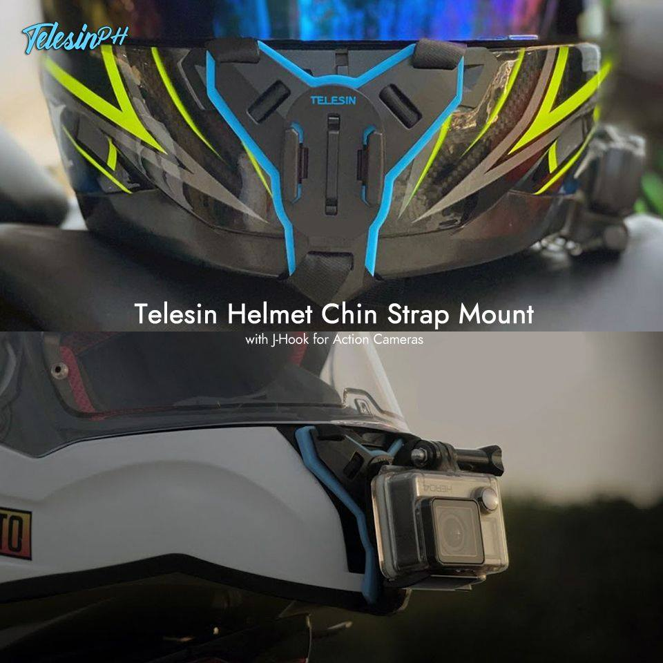 Shoot from the best angle with Telesin Helmet Chin Strap Mount. It doesn't obstruct your sight or feel awkward while wearing and it's also lightweight, flexible and can be reused to your other helmet‍. 🚴 Set up your action camera with the J-Hook Mount and you are ready to go!  Get it here www.tomtop.com for only ₱399❗️