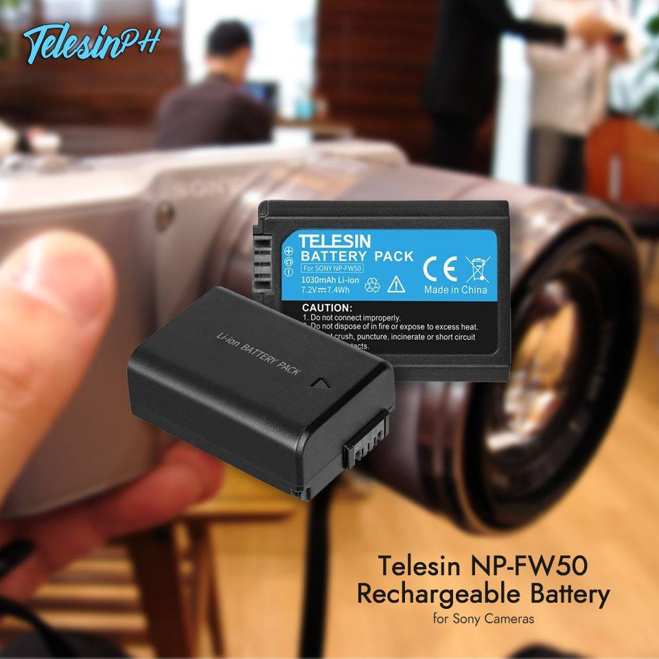 Get yourself a Telesin NP-FW50 Rechargeable Battery for your Sony Cameras, Because more battery means more fun! Get it here www.tomtop.com for only ₱599❗️  🔋 High Quality Battery: Built-in Grade A Battery Core to ensure high performance and long battery life.