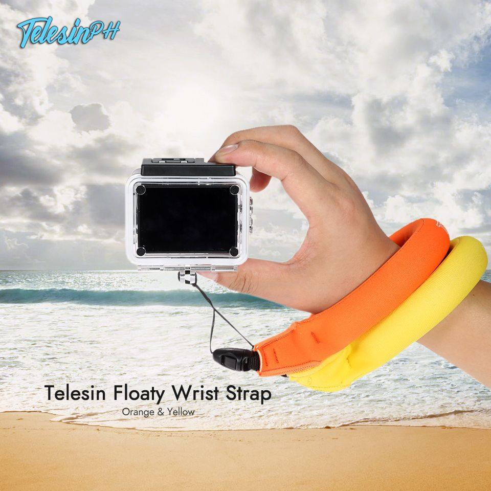 Secure your action cameras from falling into the ocean with Telesin Floaty Wrist Straps. It comes with Yellow and Orange colors to easily spot on the water and made of soft foam-filled neoprene for your comfort. >> www.tomtop.com --