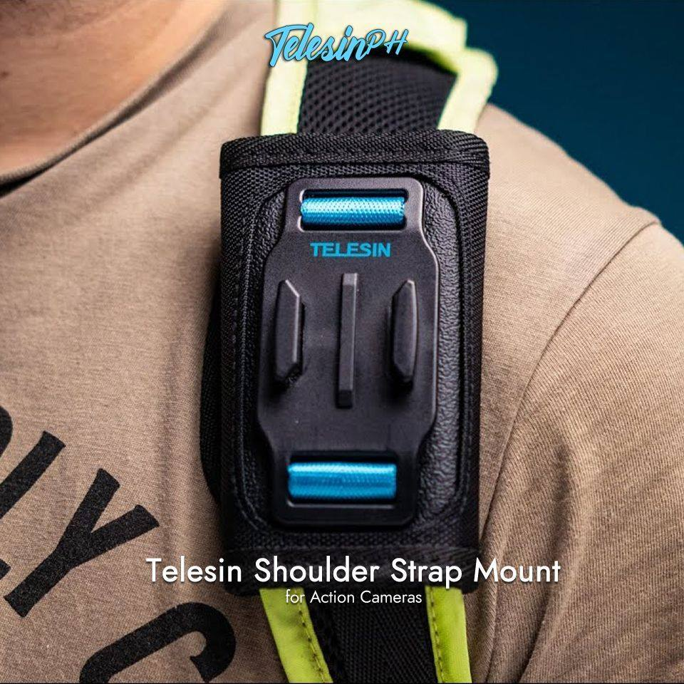 Mount your action camera to your backpack strap with Telesin Shoulder Strap Mount while doing your hiking, cycling, skiing, climbing, etc. Fully free your hands to get the wonderful shooting. Simple structure with durable materials, Easy and convenient to install and release your action camera by sliding it on the mount. Full details >> www.tomtop.com --...