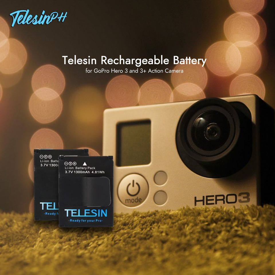 Telesin Rechargeable Battery for your GoPro Hero 3 and 3+.