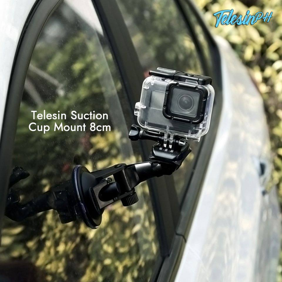 Attach your camera with this Telesin Suction Cup Mount, An industrial strength suction cup to cars, boats, or motorcycles for your high-impact sports and filming needs. Get it here www.tomtop.com for only ₱279 ❗️  Engineered to provide a broad range of motion and stability and