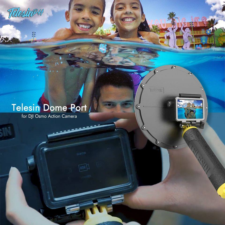 Make your underwater activity extra special with a unique shot from the Telesin Dome Port for your DJI Osmo Action Camera.