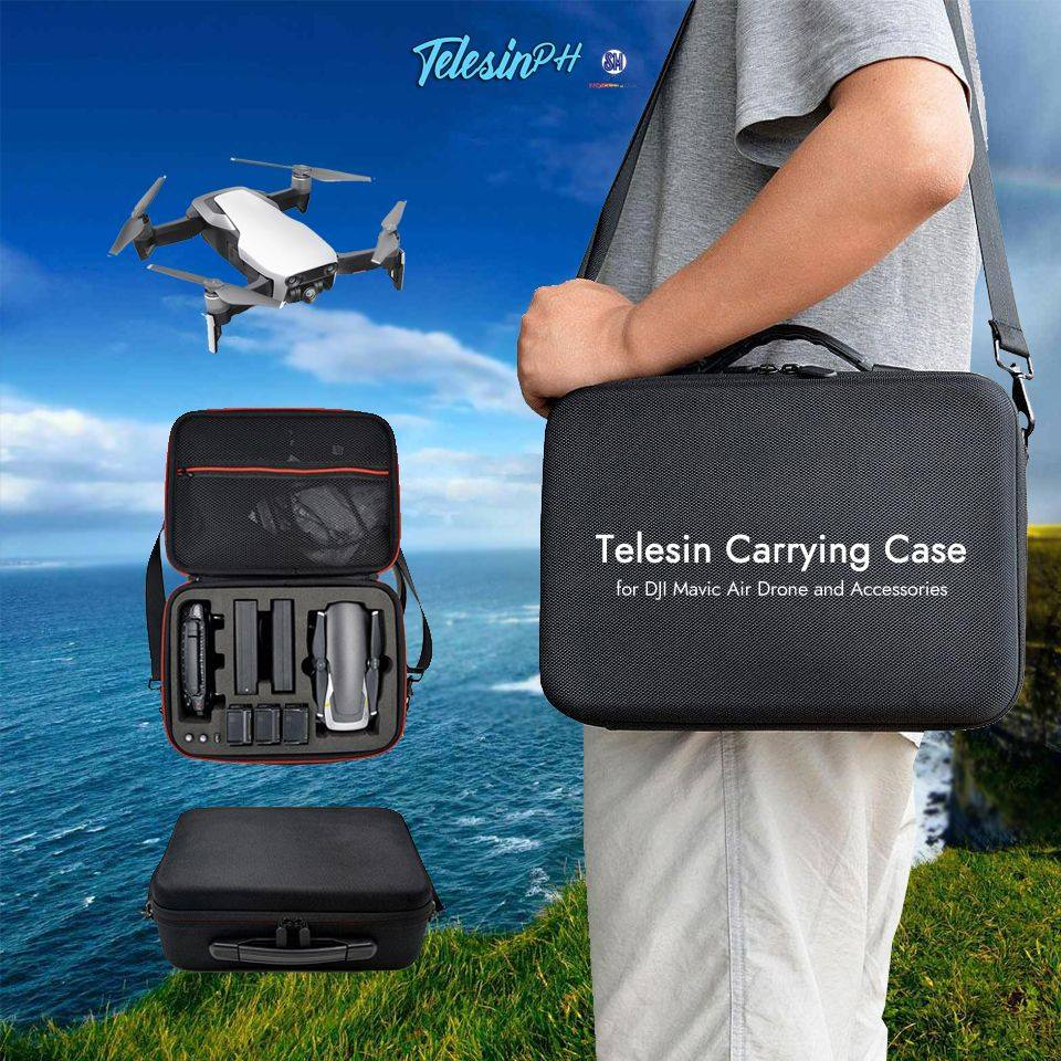 The best companion of your DJI Mavic Air is a Telesin Carrying Case that can protect your drone while traveling and carrying it with all of its accessories that perfectly fit in this case. Due to the good layout of the protective foam design inside, your drone and accessories will be stored securely and stably without issues.