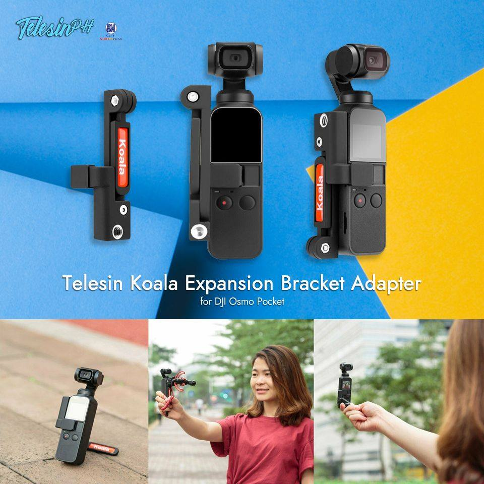 Telesin Koala Expansion Holder is a multifunctional tool that is specially designed for DJI Osmo Pocket. Get it here www.tomtop.com for only ₱399 ❗️ Features:
