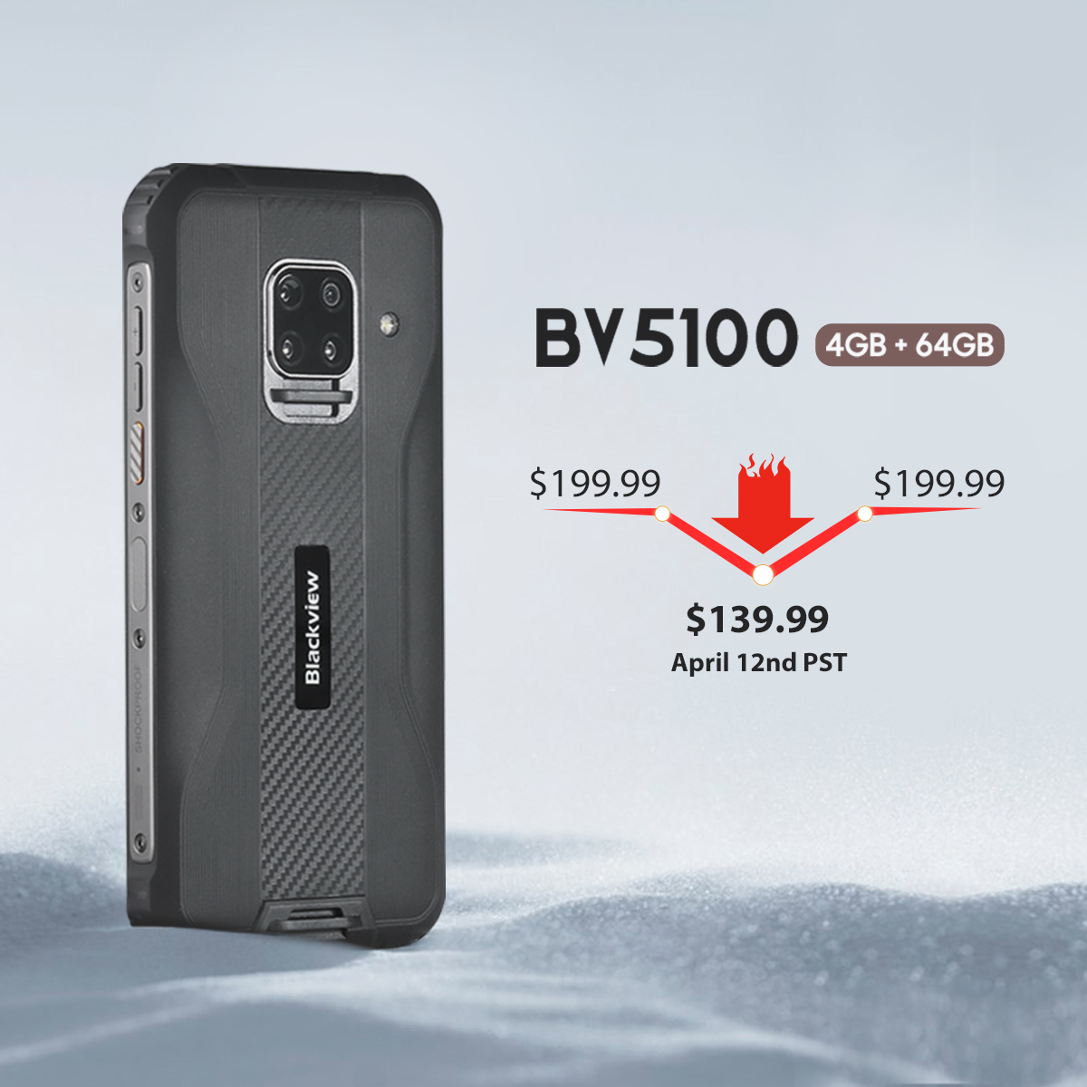 Reveal the final price of BV5100 (4GB+64GB)