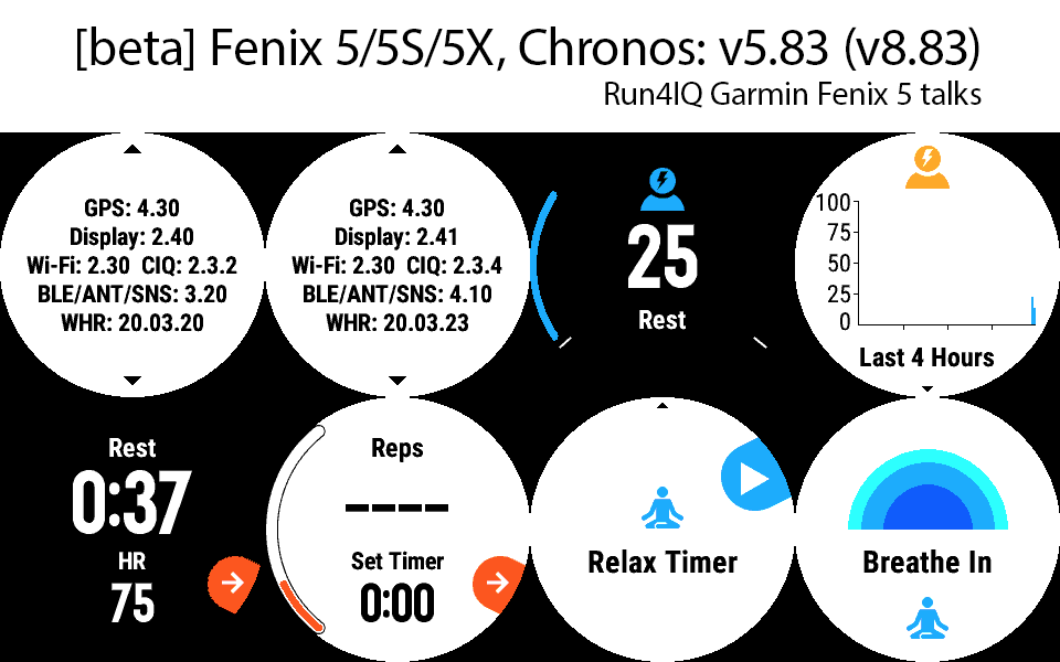 Very new and long awaited features come to Fenix 5 family with this fresh beta firmware: Stress, relax timer, repetitions/weights in strength training, join the discussion:
