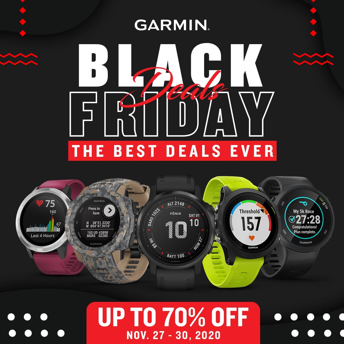 It's here — the biggest and the best deals ever from Garmin