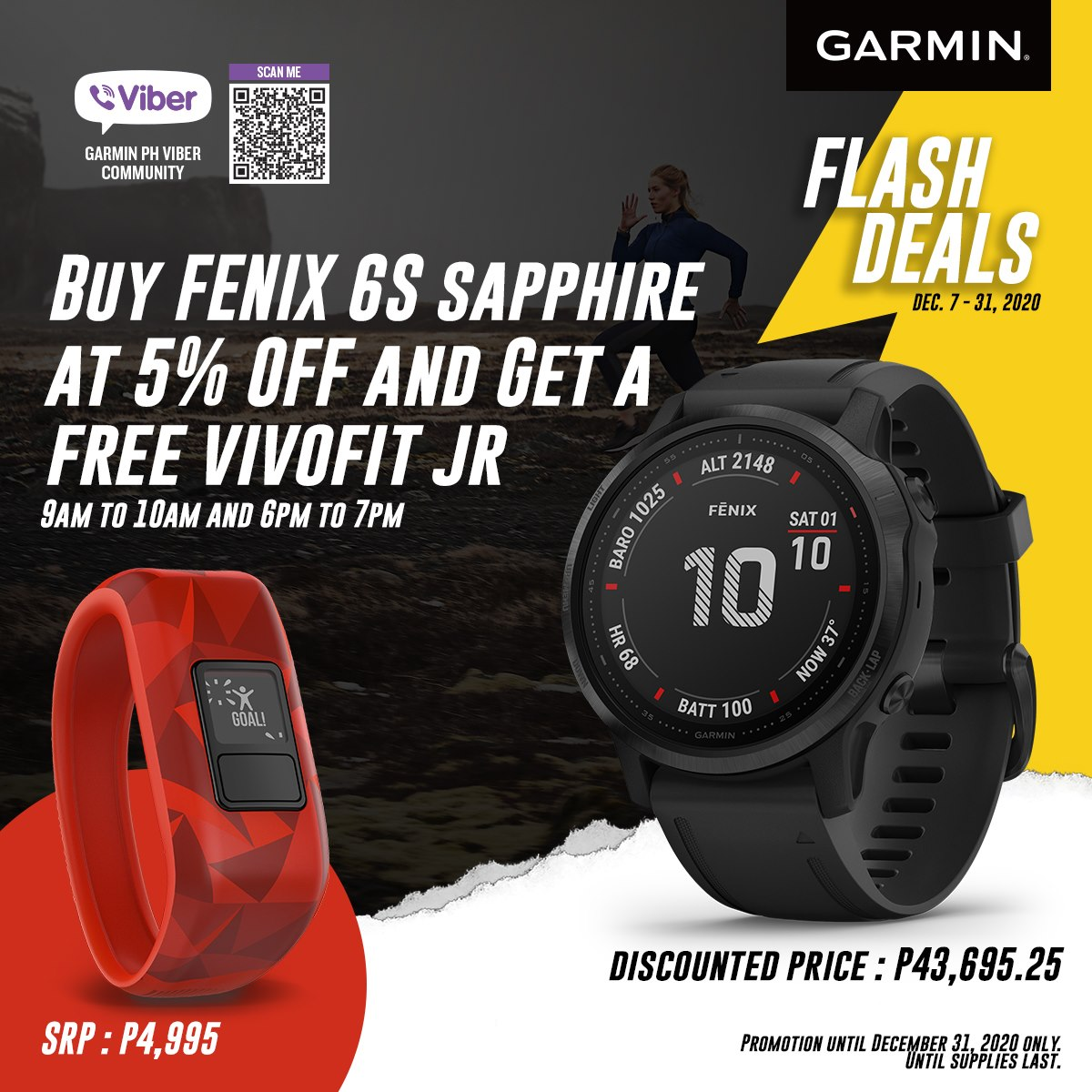 Stay on top of your fitness game this holiday season without breaking the bank with these Garmin PH Viber Exclusive Deals! We're offering FREE SHIPPING nationwide for online purchases too, so whether you're gearing up to stay even stronger for the coming year, or you're sending a gift directly to a loved one's door with a heartfelt note, you can count on us
