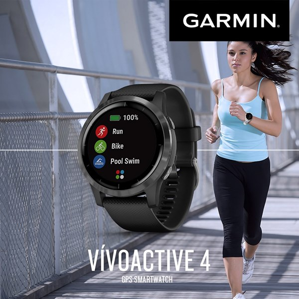 Keep an eye on your health 24/7 with Vivoactive 4. Get the broadest range of all-day health monitoring features like heart rate, respiration tracking, sleep monitoring, and hydration tracking right from your wrist. It's the perfect fitness companion for an active lifestyle. #GarminVivoactive4