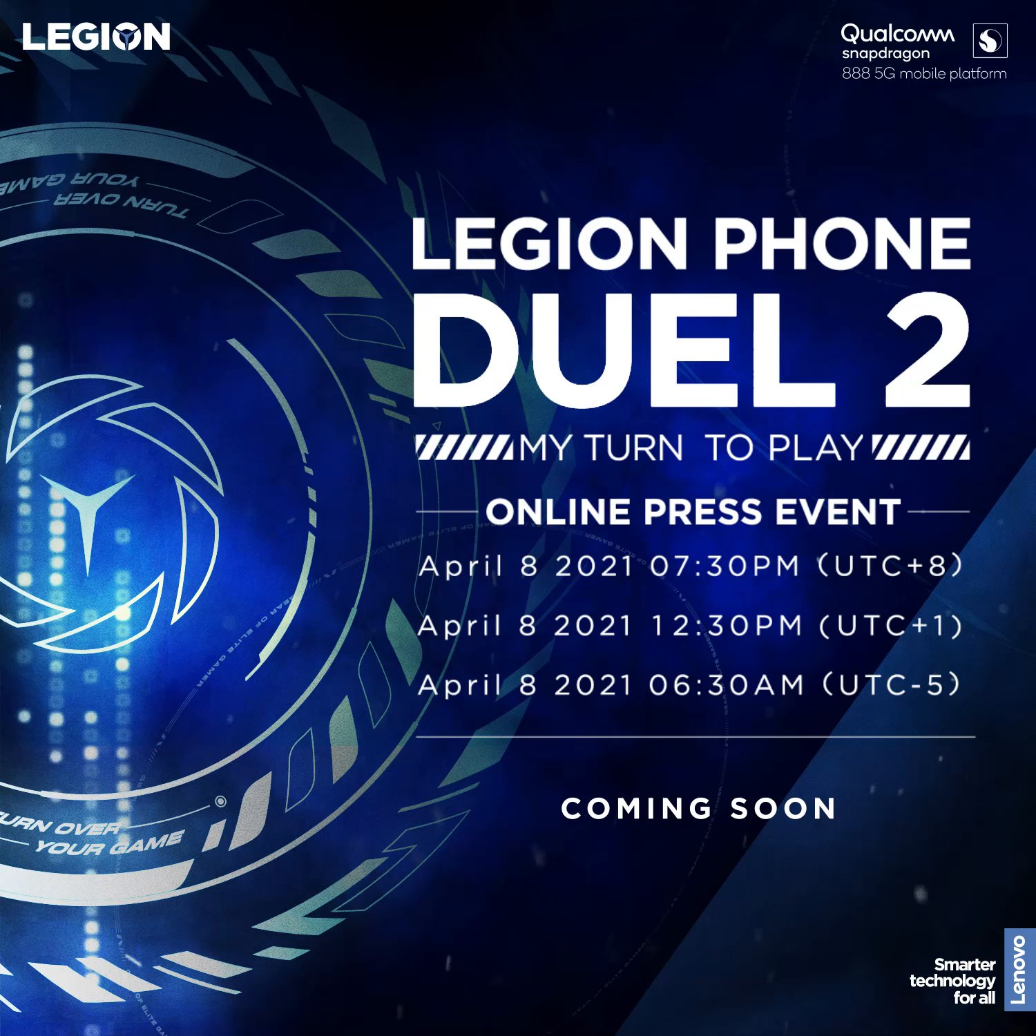One more week....we can't wait to show you the revolutionary Legion Phone Duel 2 ! Stay tuned for our big announcement on April 8th. Now, it's MY TURN TO PLAY.  Learn more here>>>