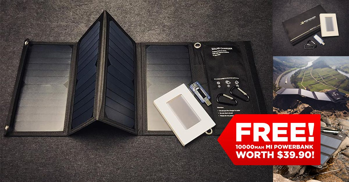 🔥 Need to charge your phones during on overseas camping trips? Don't get stuck without any recharging source like how most people do! ⏩ www.tomtop.com Get a set of these foldable USB Solar Panels! They fold down smaller than an A4 magazine and can charge a 10,000mAh power bank in 3 hours. This lets you charge a typical iPhone 2 to 3 times over when the sun sets. Here's how it works in just 3 simple steps:... 👉 Check for clear sunny skies