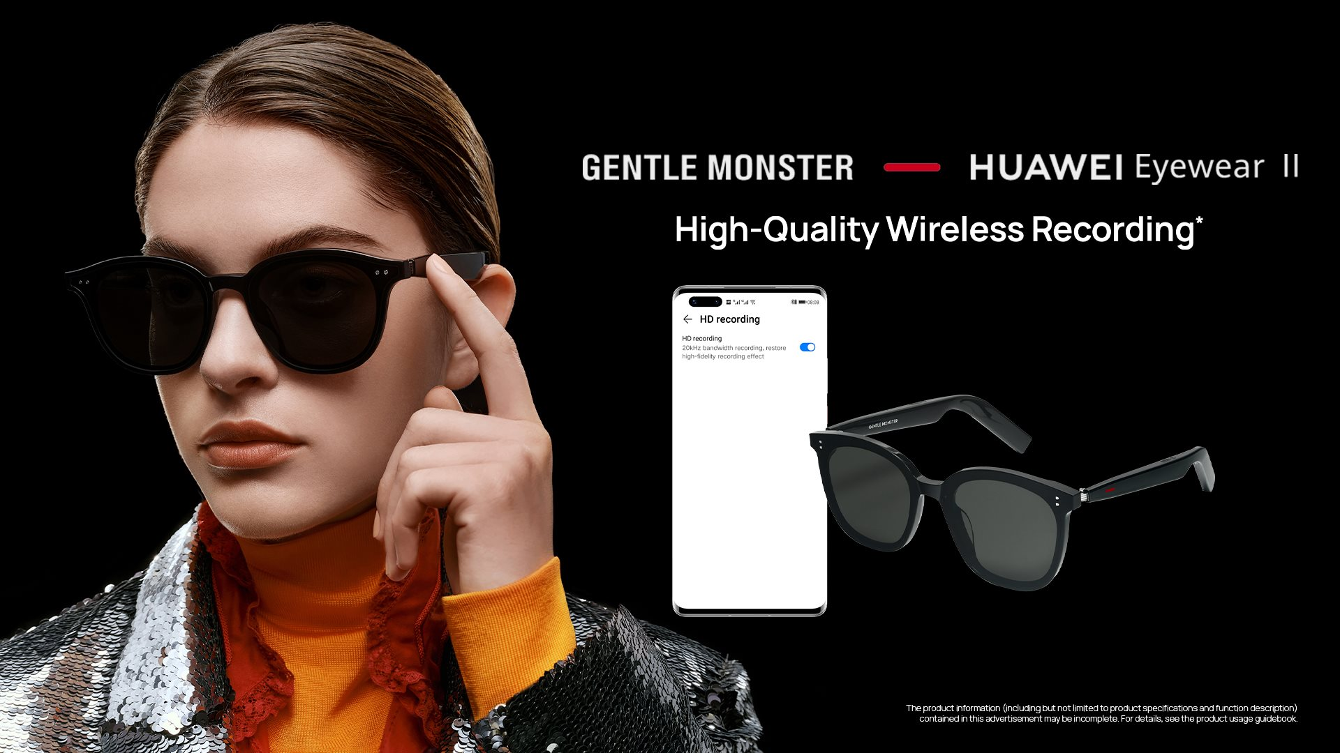 Record a vlog no matter where you are 📹 #HUAWEIGentleMonsterEyewearII 🕶️offers stable transmission to guarantee you a crystal clear sound.